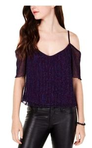 Metallic Pleated Night out Top